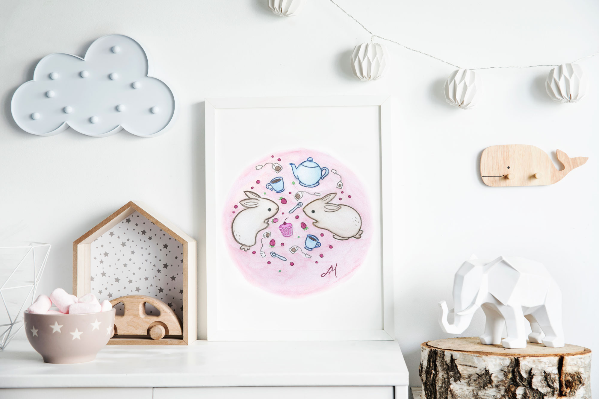 lauren metzler nursery art