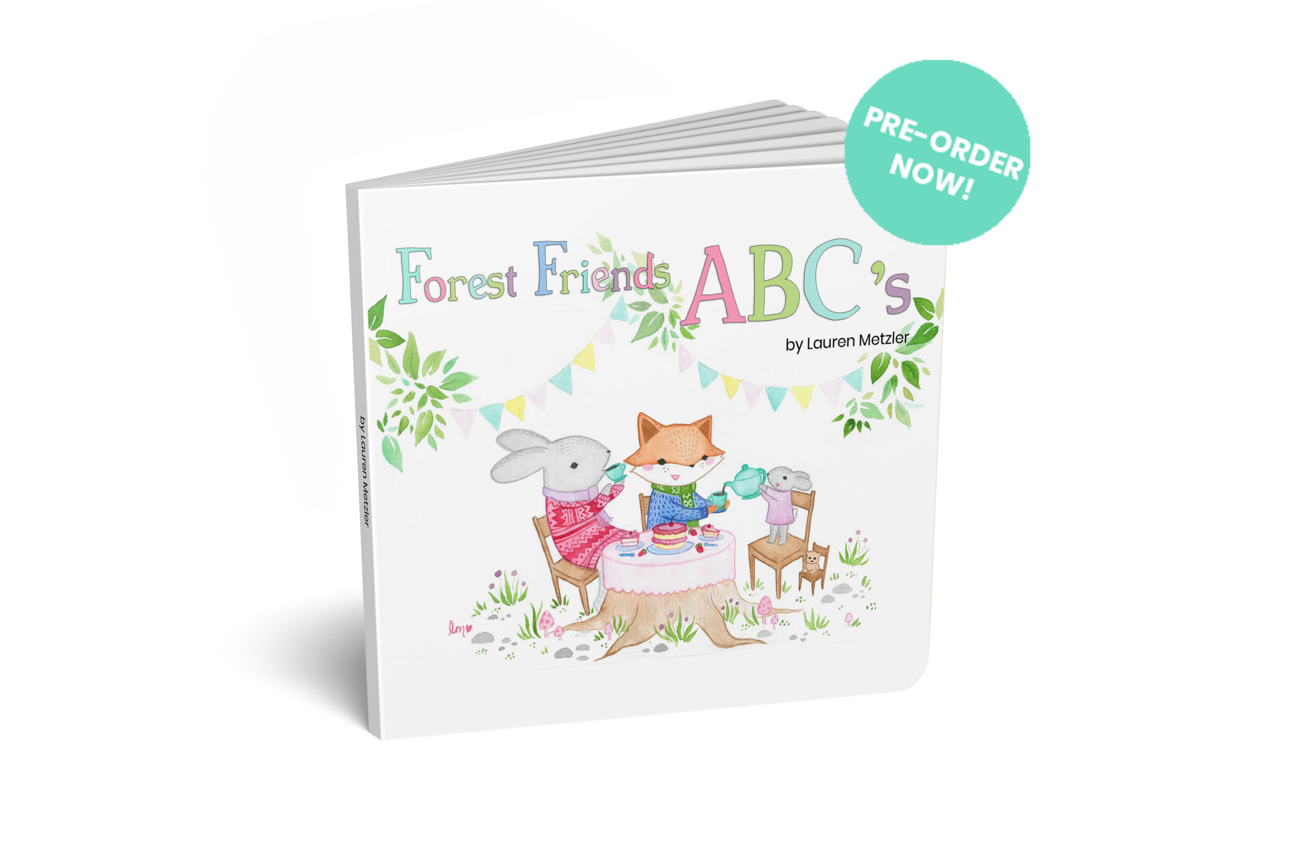 Forest Friends ABC Picture Book by Lauren Metzler find out more at laurenmetzler.com