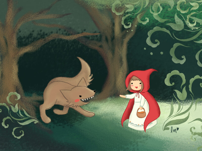 Lauren Metzler Children's Book Illustration Little Red Riding Hood