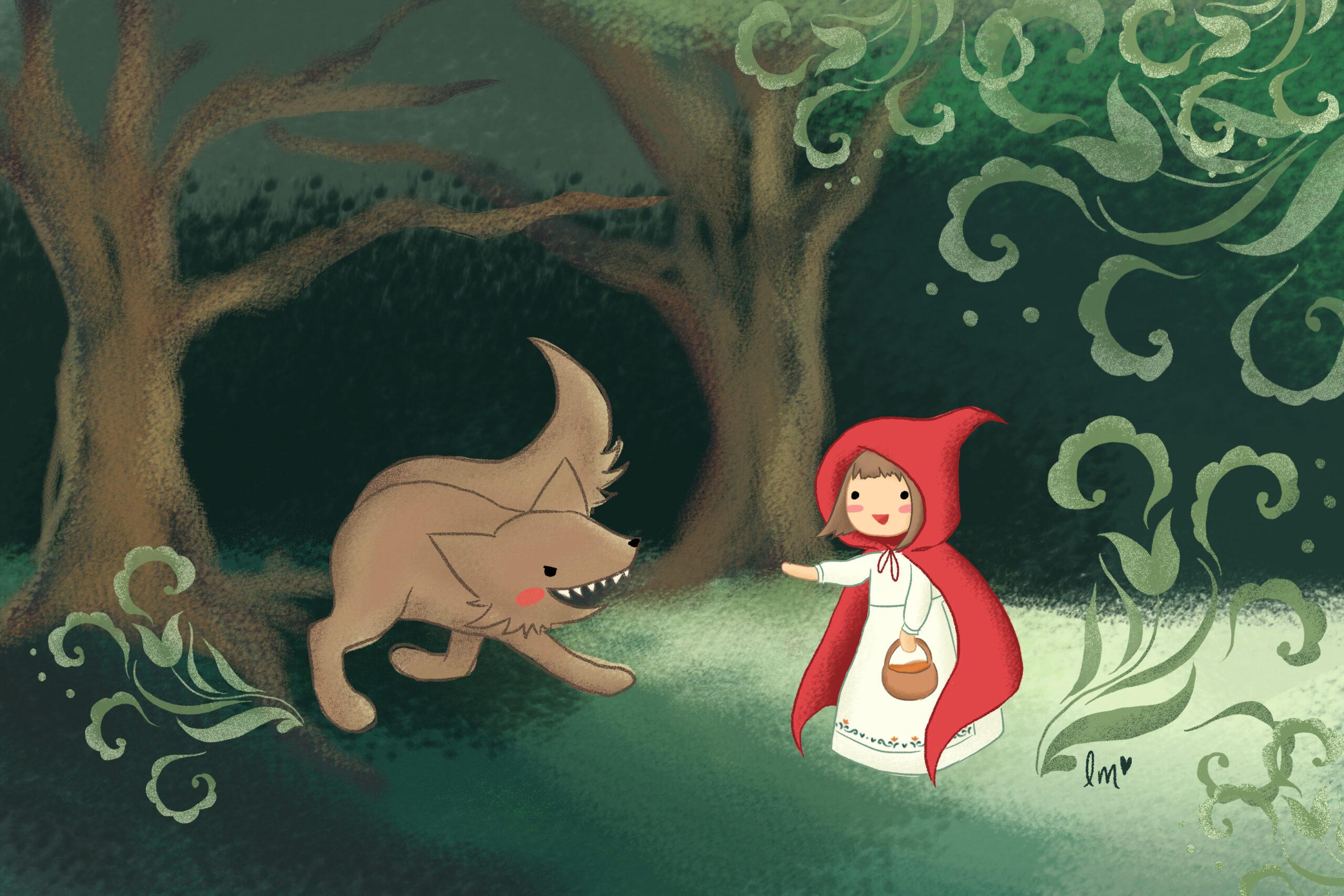 Lauren Metzler Children's Book Illustration Little Red Riding Hood
