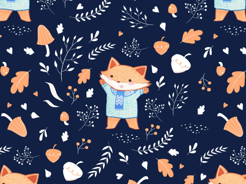 This Baby Fox pattern by Lauren Metzler works great for nursery items... baby sheets, quilts, blankets and clothes!