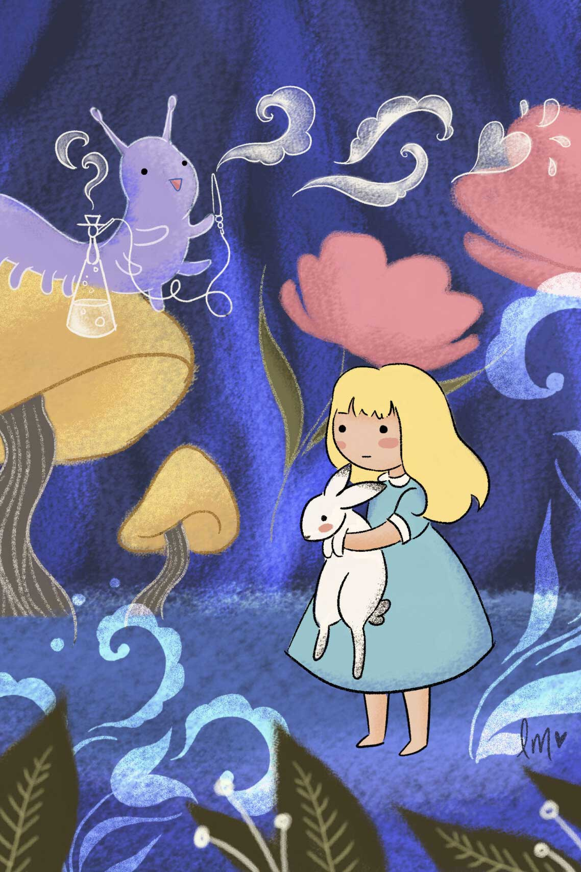 Alice in Wonderland by Lauren Metzler. See more children's book illustrations at laurenmetzler.com