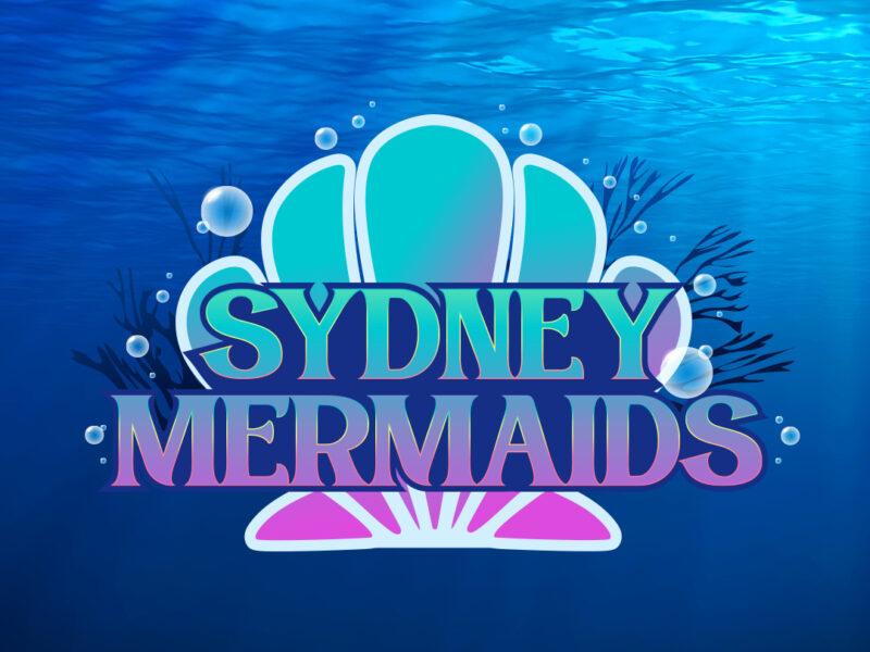 Sydney Mermaids Logo Design & Illustration by Lauren Metzler